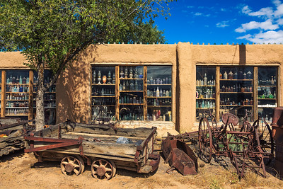 Casa Grande Trading Post and Mining Museum on the Turquoise Trail in New Mexico