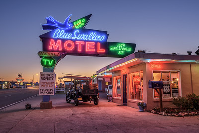 Historic Blue Swallow Motel in Tucumcari, New Mexico