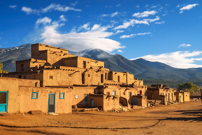 Ancient dwellings of Taos Pueblo, New Mexico