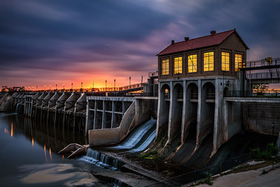 Lake Overholser Dam in Oklahoma City