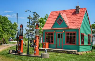 Vintage Phillips 66 Gas Station