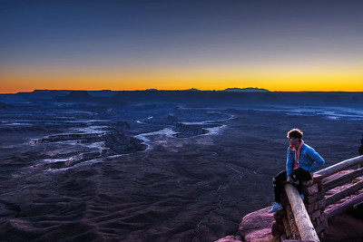 Boy at the Green River Overlook in Canyonlands National Park