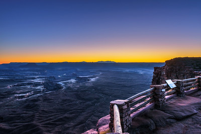 Sunset at the Green River Overlook in Canyonlands National Park