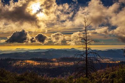 Sunset above Sierra Nevada