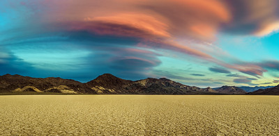 Sunset at Racetrack Playa  in Death Valley National Park