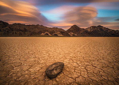 Sunset over The Racetrack Playa  in Death Valley National Park