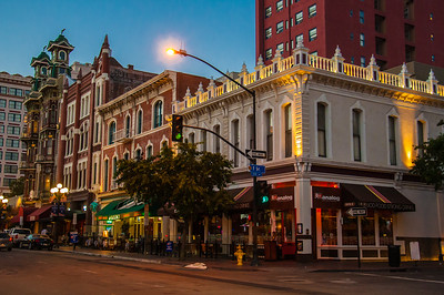 Nightlife in the Historic Centre of San Diego, California