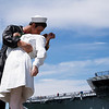 Kissing statue near USS Midway, San Diego