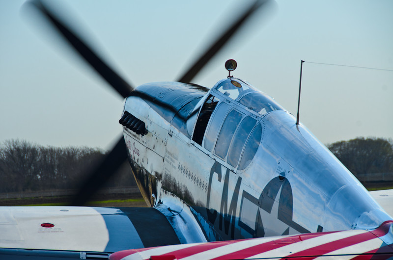 P-51 Fighter Plane, WWII aircraft. One of the only planes still flying from WWII. Wings of Freedom tour sponsored by Collings Foundation.