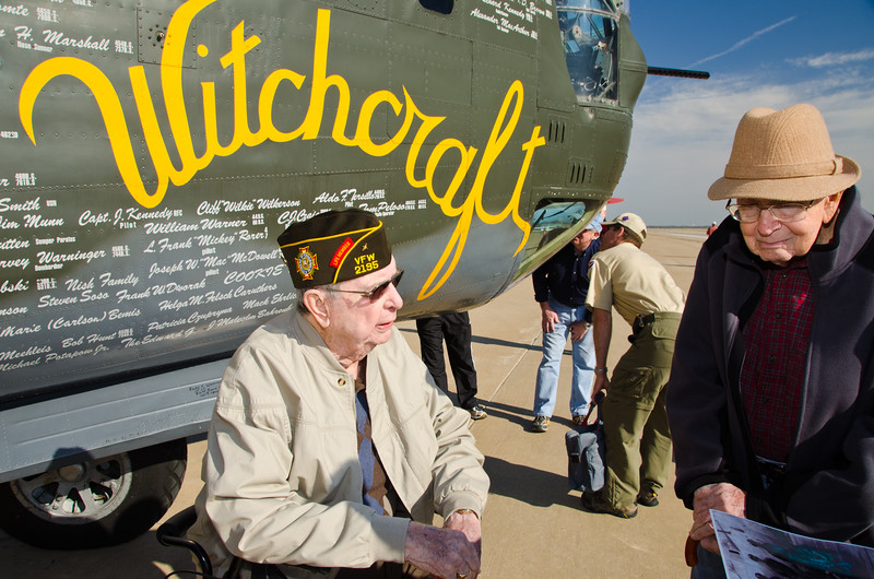 WWII Veteran, David T. Hansen. One of the only planes still flying from WWII. Wings of Freedom tour sponsored by Collings Foundation.