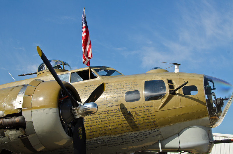 B17 bomber. One of the only planes still flying from WWII. Wings of Freedom tour sponsored by Collings Foundation.