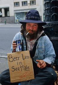 Transients in Downtown Seattle, Seattle, Washington