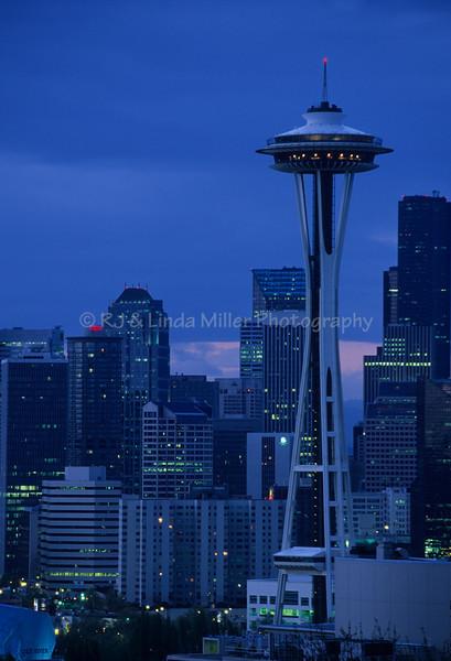 Seattle Space Needle at Night, Seattle Washington,