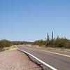 Arizona highways through Saguaro cactus park