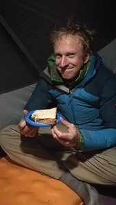 Dinner picnic when the fuel wouldn't light at 4300m...