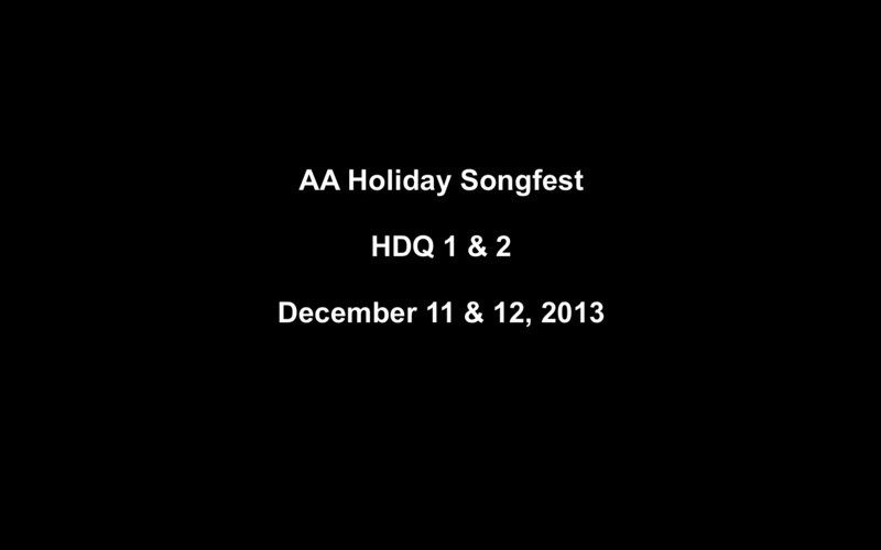 AA Holiday Songfest 2013 HDQ 1 & 2