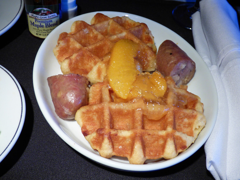 20140513 SFO-MIA 0615 waffles with maple syrup