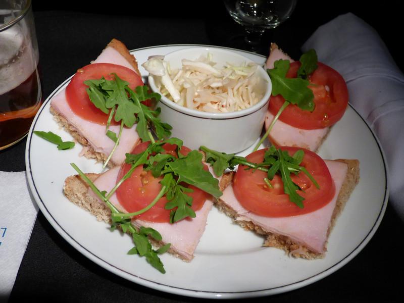 20140506 ORD-SFO 2015 smoked turkey open face sandwich