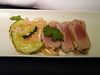 20140122 1800 ORD-LHR seared Asian tuna starter