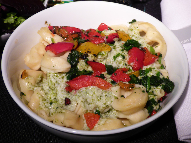 20140208 1735 Cheese Tortellini With spinach served in a creamy pesto sauce