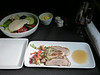20140829 1330 HKG-DFW  roasted Peking duck and seasonal greens with fresh vegetables, mushrooms and bean curd