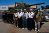 Members of the 297th Combat Engineer Battalion at the American Airpower Museum to mark the anniversary of D-Day. The unit landed in Normandy on June 6, 1944.  <br /> (L-R) Andy Ranaudo, Thomas E. Todd, Barney Reynolds, Joseph Rufo, Cye Cynamon