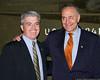 Babylon Town Supervisor Steve Bellone with Senator Charles Schumer.