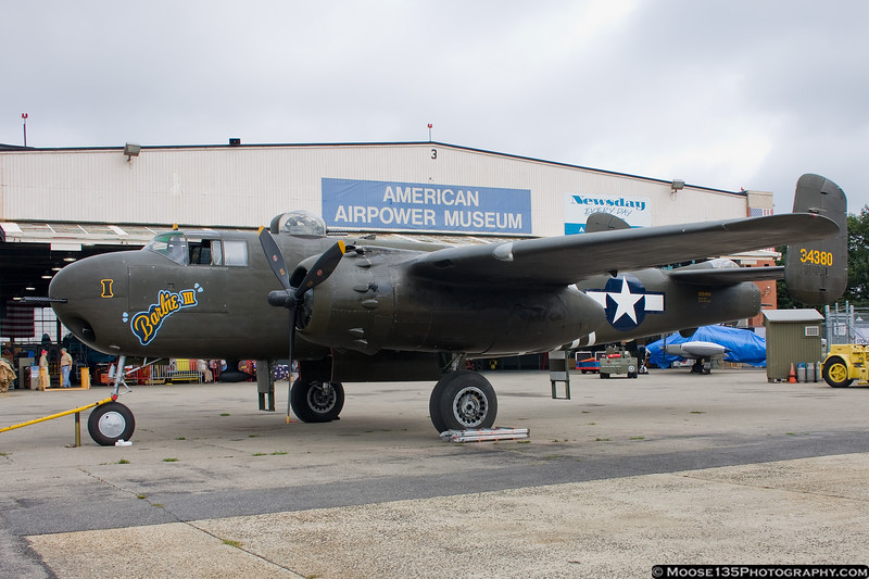 B-25H Barbie III visiting the American Airpower Museum.