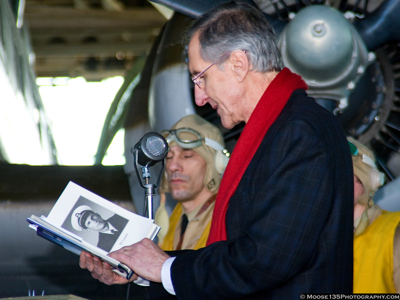 Robert Mrazek reads a passage from his book on the Battle of Midway.
