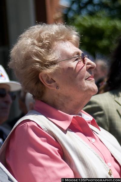 Thea Gotesmann-Rumstein, a survivor of the Nazi-run Mauthausen concentration camp.