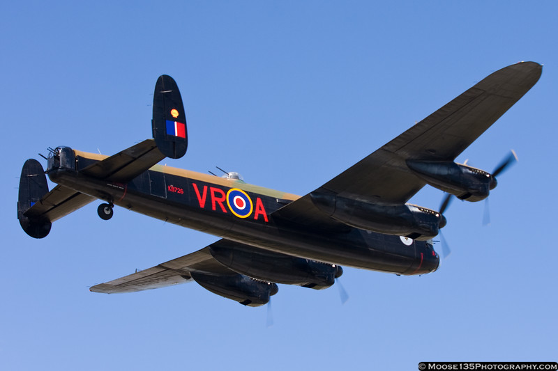 This is one of only two airworthy Lancasters remaining - the other is based in Great Britain.