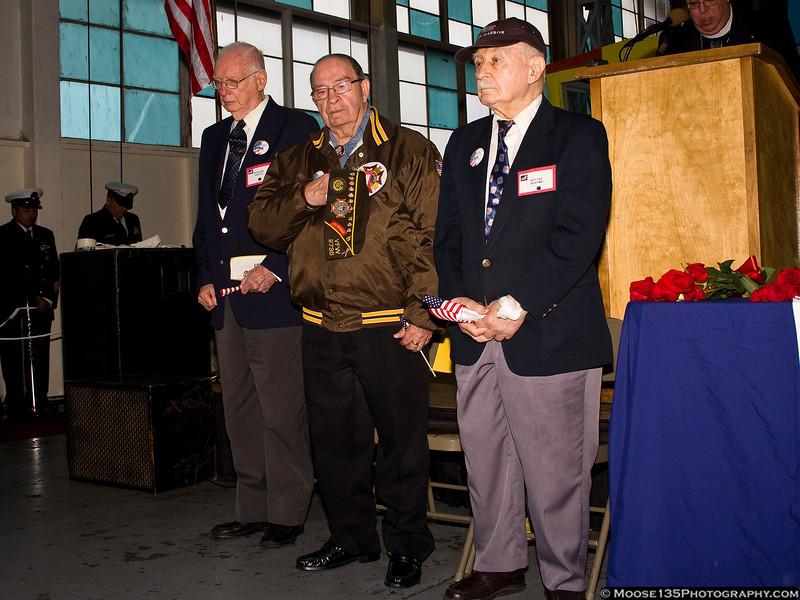 Pearl Harbor Survivors Richard Abeles, Gerald Barbosa, and Bernard Berner