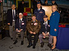 Richard Abeles, Gerard Barbosa, and Bernard Berner with members of the local Air Force Association chapter.