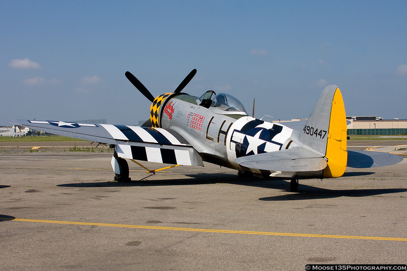 AAMs P-47 Thunderbolt on the museum ramp.