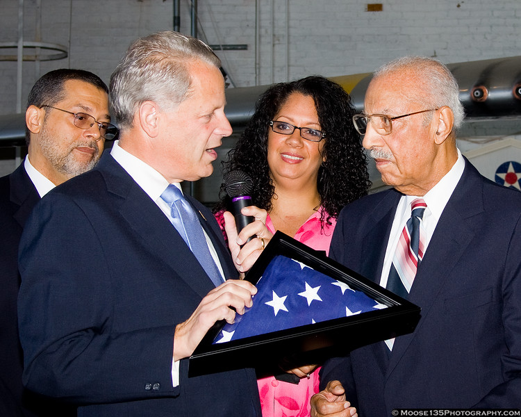 Mr. McRae presented with an American flag which was flown over the US Capitol building in his honor.