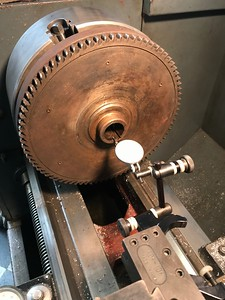 dialing in the flywheel to clean up seal surface