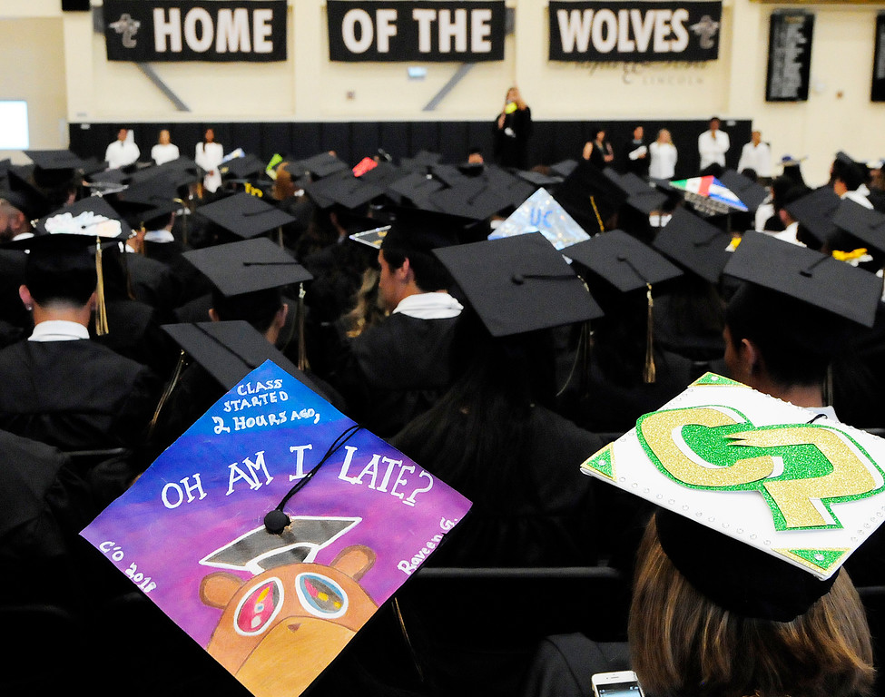 . AMERICAN CANYON, CA - JUNE 6, Students prepare for graduation at American Canyon High School on Wednesday. (CHRIS RILEY/TIMES-HERALD)