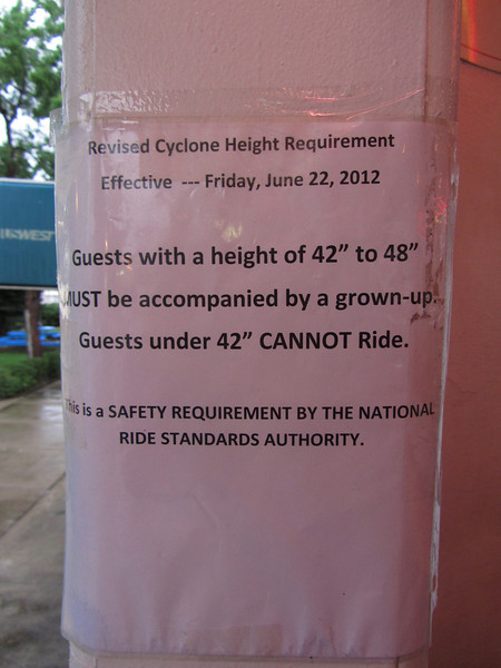 IMG_1768 The Cyclone now has a minimum height requirement!