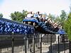 "IMG_0526 ""Millennium Force"" at Cedar Point (Sandusky, OH).  Overexposed, but I like it anyway..."