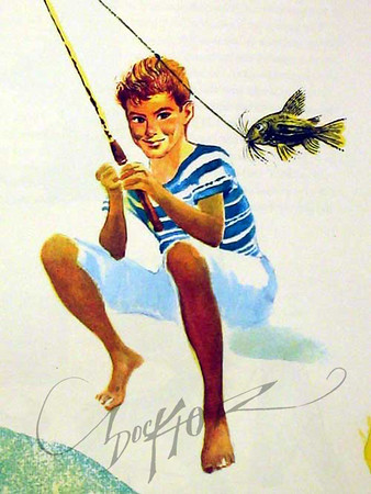 Ben Botkin and Carl Withers, The Illustrated Book of American Folklore (Grosset & Dunlap, 1958). Illustration by Irv Docktor. This was a projection of how his son Paul would look in the future.