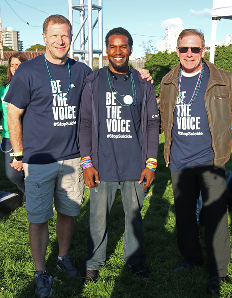 With Kevin Berthia and Kevin Briggs. Photo by Mary Jeanne Miller