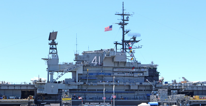 USS Midway along the route.