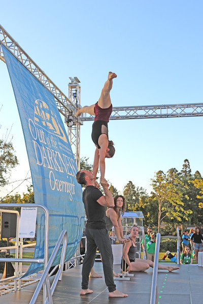 Lighthouse Circus Performing before the walk.