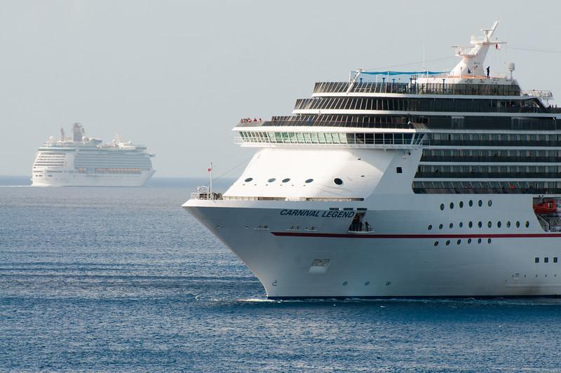 Cruise Ships Leaving Cozumel