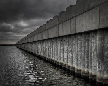 Lake Borgne Surge Barrier, 2011