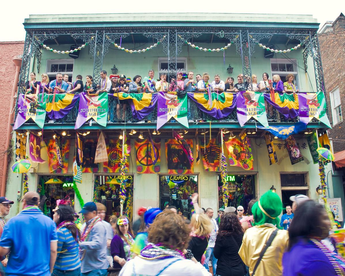Bourbon Street Balcony