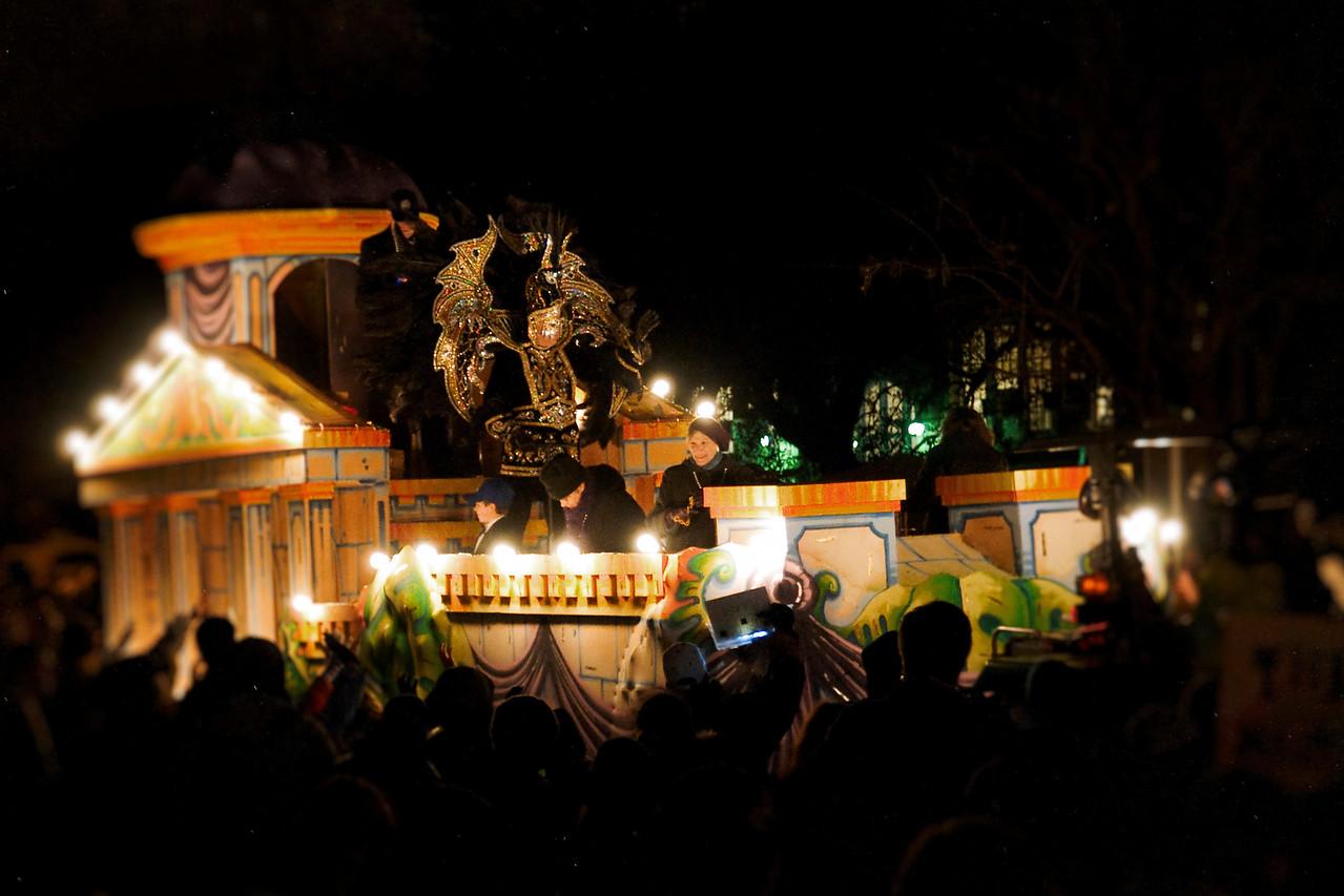 Night parade on Napoleon