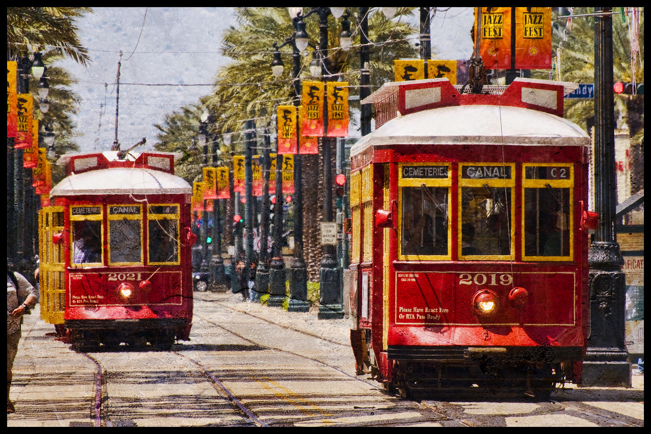 Red Streetcars