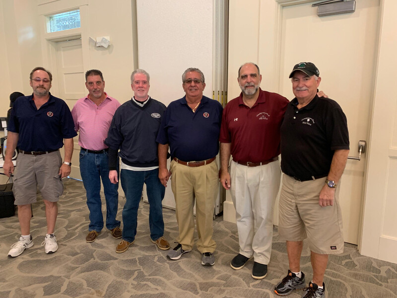 The Transfiguration Greek Orthodox Church Lowell team, from left, Chris Papadopoulos of Dracut, Jimmy Demetri of Pelham, Nick Laganas of Dracut, George Laganas of Seabrook, N.H., and  the Rev. Tom Chininis and Costa Tskoulis, both of Lowell