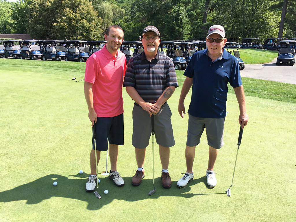 . From left, Navy veteran Dennis Gray of Danvers, Desert Storm veteran Ricky Frank of Merrimack, N.H., and Vietnam veteran Bob Hornbaker of Lowell of the Air Force
